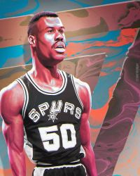 David Robinson The Admiral NBA Art by skythlee