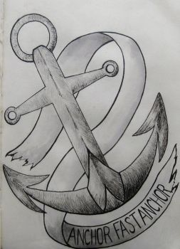 'Anchor Fast Anchor' Tattoo Design by Raaawr-artist
