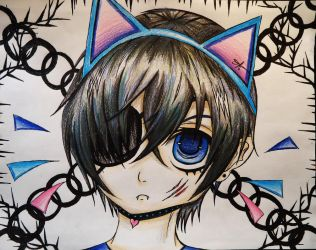 Ciel Phantomhive Kitty by Cre8iveWing