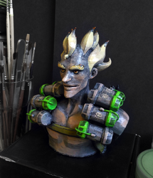 Junkrat bust finished by chid0