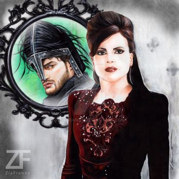 Evil Queen Huntsman drawing by Francesca Benevento by ZiaFranny
