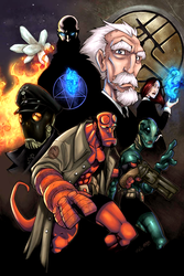 :: Hellboy Pin-up-Colors ME :: by IvyBeth