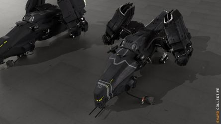 Boomslang Gunship Concept 2 - Stealth Coating by ikarus-tm