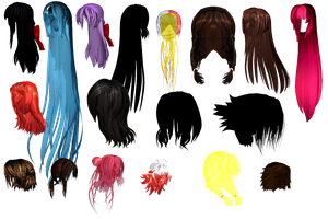 MMD Combined Hair Pack by 2234083174