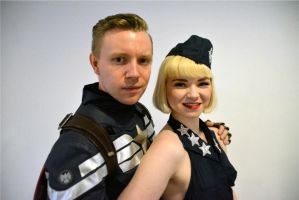 Captain America + USO Girl Midlands Comic Con 2017 by masimage