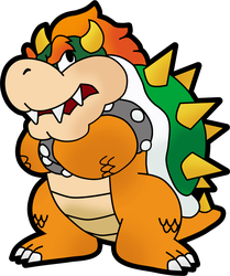 Paper Bowser by Fawfulthegreat64
