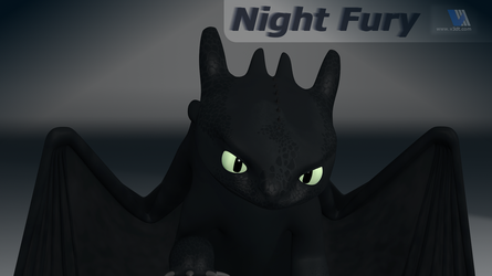 Night Fury Dragon by V3DT