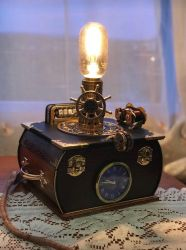 Victorian style steampunk lamp  by ovdiem