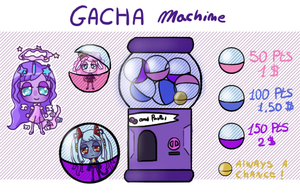 Super Cheap Gacha Machine (closed) by Super-Gabou