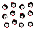 amy: expression sheet by mel-bot