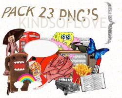 pack 23 png's by kindsoflove