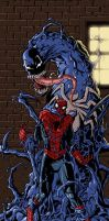 Spiderman VS venom by Ullcer