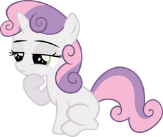 Sweetie Belle In Thought by Stayeend