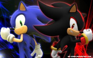 Sonic and Shadow Wallpaper by MP-SONIC