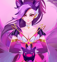 Ahri-star-guardian by clausketch