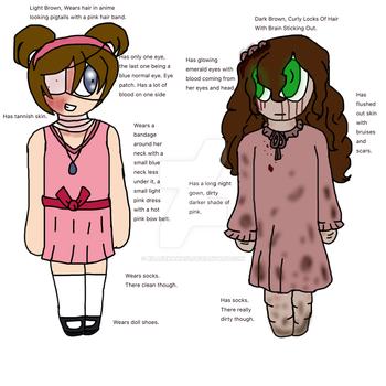 Similarities and Differences: Cathy and Sally. by UsedtobeGGiraffe