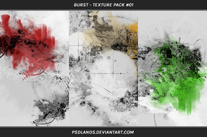 TEXTURE PACK #01 - burst by psdlands