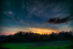 Sunset over Dunollie Castle by ZenonSt