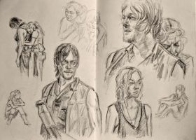 Beth and Daryl by kssu24