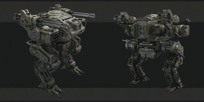 Mech concept by WiredHuman