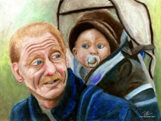 Grandfather and grandson by nunt