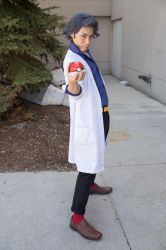 Prof. Sycamore Challenging the Player to a Battle by M-Hydra