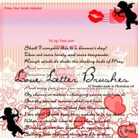Love letter Brushes by Coby17