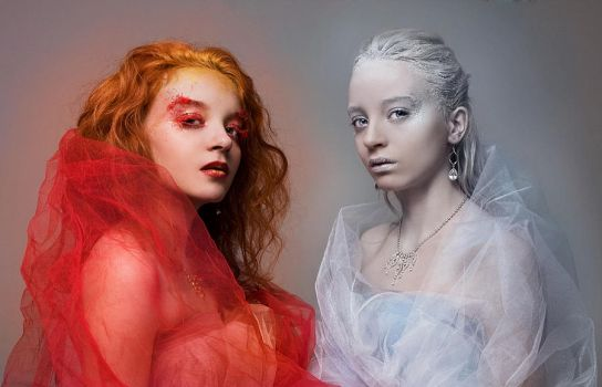 Twins of Fire and Ice by ScorpionEntity