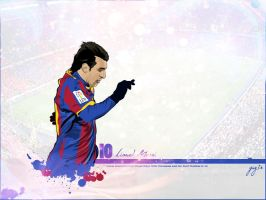 Messi Vector Wallpaper by gaz3r