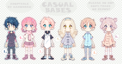 Adoptable: Casual Babes Batch 3 [CLOSED] by amepan