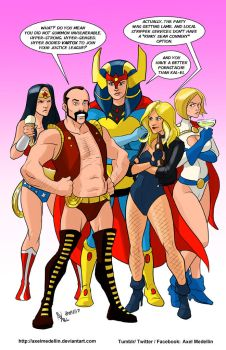 TLIID 368. The Justice League ladies and Vartox by AxelMedellin