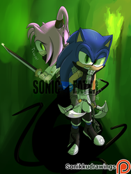 Sonic Eater: Sonic and Amy by Sonikkudrawings