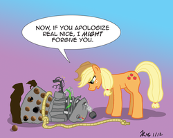 MLPFIM: Pony vs. Dalek 3 -- AppleJack by the-gneech