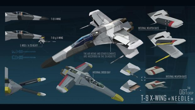Star Wars X-Wing 5th generation by Dragonnick741