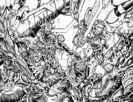 Bloodlust 3. wraparound cover (inked) by BloodlustComics