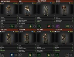 My survivors in the Last Stand: Dead Zone game by MercFox438