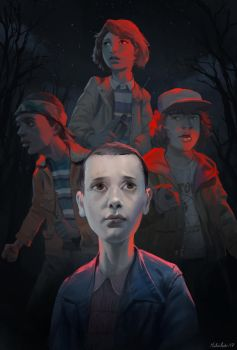 Stranger Things fanart poster by MihaiRadu