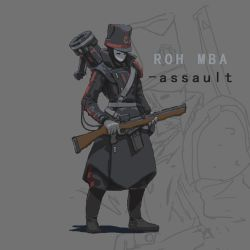 ROH MBA(assault trooper) ( Pixel style ) by lhlclllx97