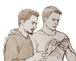 Avengers: Steve and Tony by Hallpen