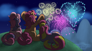 Watching the Fireworks by AnScathMarcach