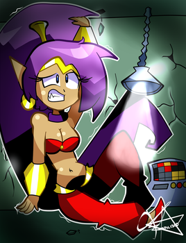 Request#17 Giant Shantae by franciscoanimador