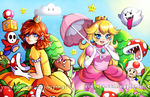 Daisy and Peach (Collab with AppleMinte) by FlyingPings