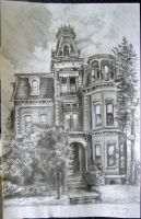 Victorian Mansion by linaeria