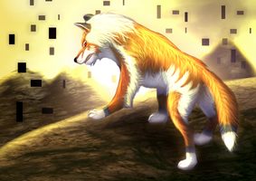 LoZ TP golden wolf by Chaosthief
