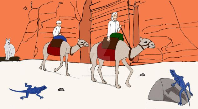 Camel ride in Petra by bad-squirrell