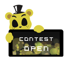 Golden Freddy Contest Open Stamp by InkCartoon