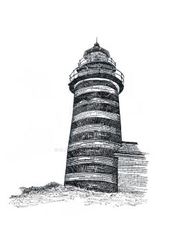 West Quoddy Head Lighthouse Drawing by SlateJe