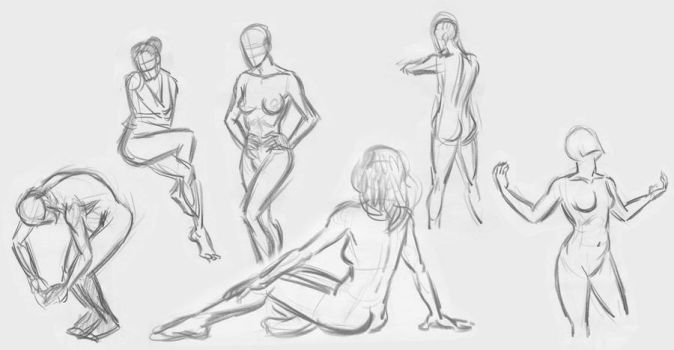 Quick sketches Life drawing by art2work