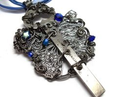 Night Wing Key Necklace by sojourncuriosities