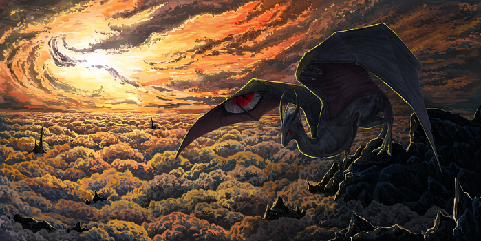 Above the clouds by firael666